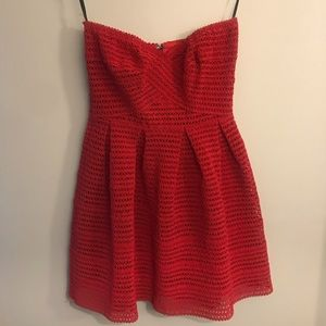 Forever21 red strapless mini dress